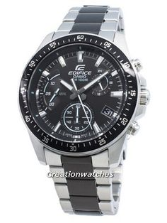 Stainless Steel Case and Bracelet, Quartz Movement, Mineral Crystal, Chronograph Function, Luminous Hands And Indexes. Seiko 5 Sports Automatic, Seiko Automatic, Stainless Steel Bracelet, Stainless Steel Case, Casio Edifice, Watch Model, Black Crystals, Casio Watch, Chronograph