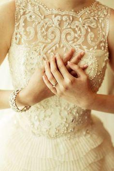 Veluz Reyes Wedding Dress with Delicate Details