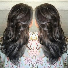Shades of pewter and charcoal hair color by Janai of Butterfly Loft Salon #hotonbeauty facebook.com/hotbeautymagazine