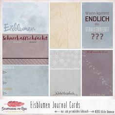 Digitale Downloads - Eisblumen 4x6 Journaling Karten - ein Designerstück von Rikki_Donovan bei DaWanda