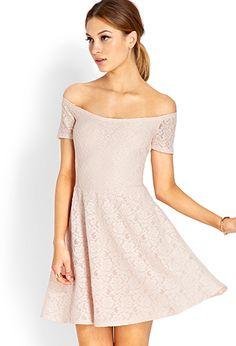 Sweet Lace Off-The-Shoulder Dress | FOREVER21 - 2000065083