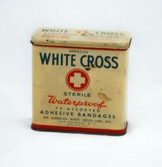 Vintage American White Cross Adhesive Bandage by AuntDarlenesAttic