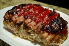 Here is the article about Spicy Meatloaf Recipe to make your friends, lover, and family happy :) Spicy Meatloaf Recipe, Meatloaf Recipes, Beef Recipes, Cooking Recipes, What's Cooking, Easy Recipes, Vegan Recipes, Meatloaf Topping, Bacon Wrapped Meatloaf