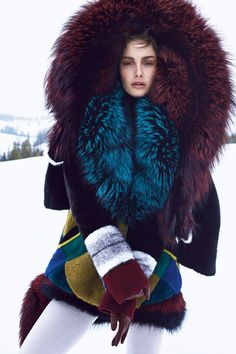 J. Mendel coats, $21,000-24,000, by special order, Saks Fifth Avenue, 877-551-7257; Marni sweater, $1,630, shopBAZAAR.com; Marni stole, $3,410, 212-343-3912; Nina Ricci gloves, $495, 312-587-1000. BEAUTY BAZAAR: Enhance and protect your complexion with Dior Diorskin Star foundation, $50, sephora.com.