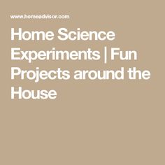 Fun projects around the house