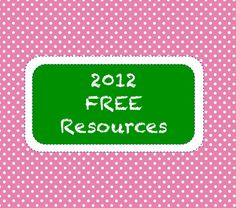 2012 Free Resources from Tpt!