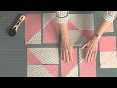 Blocks-A-Go-Go: 21st Century Snail with Marianne Fons - YouTube-Video 8:45 min Mary and Marianne show you how to make this quilt block using the flippy corners technique.