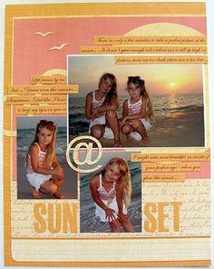 #papercraft #scrapbook #layout.  at Sunset - layout by Anya Lunchenko