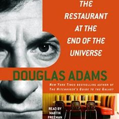 "Another must-listen from my #AudibleApp: ""The Restaurant at the End of the Universe: The Hitchhiker's Guide to the Galaxy, Book 2"" by Douglas Adams, narrated by Martin Freeman."