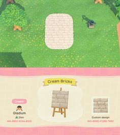 animal crossing qr codes paths pathways Champagne Cream Color Brick Single Path (bootleg version of u/celestefleurs Cute Pink Brick) : ACQR Animal Crossing 3ds, Animal Crossing Villagers, Animal Crossing Qr Codes Clothes, Ac New Leaf, Motifs Animal, Path Design, Sign Design, Bw Photography, Island Design