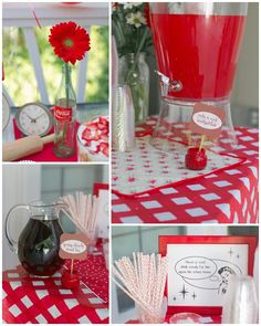 housewife bridal shower (Or just because) Party--cute very different. 1950s Bridal Shower, Retro Bridal Showers, Wedding Showers, 50s Wedding, Sister Wedding, Wedding Ideas, Wedding Signs, Wedding Photos, Retro Party
