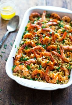 Health is Wealth Journal: Garlic Butter Shrimp and Quinoa