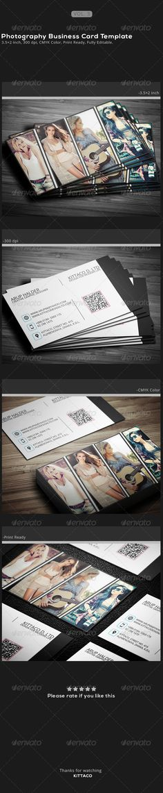 Photography Buisness Card Template - Industry Specific Business Cards