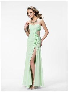 Fashion Strapless A-Line Floor Length Evening/Prom Dress