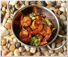 Ingredients 1. Prawns – 20 – 25, cleaned and washed 2. Turmeric powder – 1/2 tsp  Chilly powder – 1 tsp  Ginger – 1/2 inch, roughly chopped  Garlic – 5 – 6 cloves, roughly...