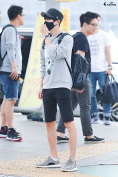 150816: EXO Park Chanyeol; Incheon Airport to Hong Kong Airport #exok #fashion #style