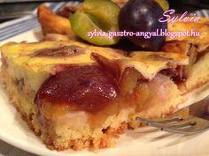 Szilvás lepény – Sylvia Gasztro Angyal Pie, Desserts, Food, Torte, Tailgate Desserts, Cake, Deserts, Fruit Cakes, Essen