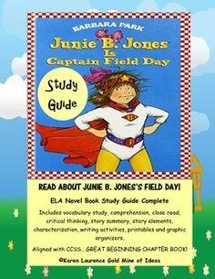 Junie B Jones printable activities