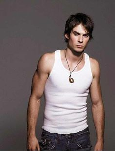 Ian Somerhalder in White Vest . is listed (or ranked) 2 on the list Hot Ian Somerhalder Photos The Vampire Diaries, Damon Salvatore Vampire Diaries, Ian Somerhalder Vampire Diaries, Stefan Salvatore, Hot Vampires, Actrices Hollywood, Hommes Sexy, Raining Men, Red Lobster