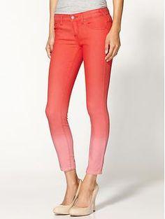 Free People Ombre Cropped Skinny Jean | Piperlime