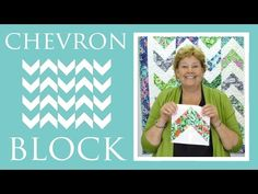 I can't wait to make this! The #Chevron #quilt #tutorial by #JennyDoan of The Missouri Star Quilt Company.