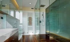 glazen wandbekleding badkamer