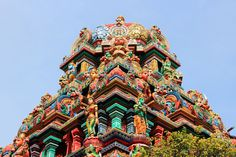 Sri Maha Mariamman Temple, or Wat Khaek, is a Hindu temple in Bangkok. It was built by Tamil immigrants and holds special ceremonies and processions.