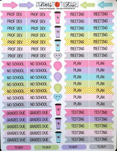Teacher Planning Stickers Fits Erin Condren Lilly by LillyTop