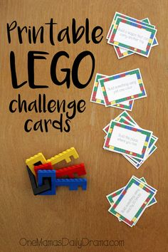Print this LEGO challenge card game for a simple stocking stuffer for kids of all ages. Includes 16 activity cards for hours of fun. Lego Ninjago, Stem Activities, Activities For Kids, Babysitting Activities, Therapy Activities, Legos, Lego Therapy, Play Therapy, Speech Therapy