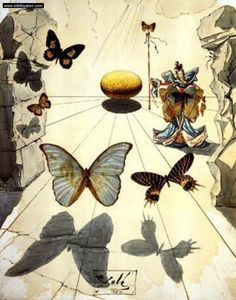 Elite occult mind controller Salvador Dali liked his Monarch themes.
