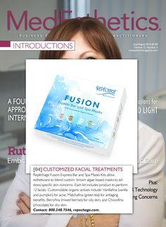 FUSION Express Bar & Spa Masks allows you to customize facial treatments, making it the perfect addon to any medispa's menu! As featured in MedEsthetics July-August issue.