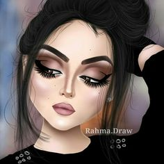 Realistic Face Drawing, Sarra Art, Girly M, Lashes Logo, Mother Art, Pop Art Girl, Cute Girl Drawing, Girly Drawings, Doll Makeup