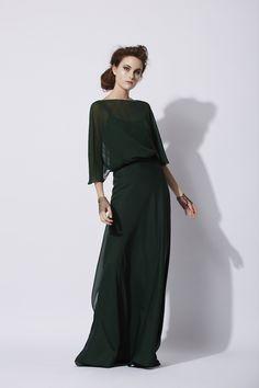 Land dress in green - Cortana Crepe Dress, Chiffon Dress, Dress Skirt, Simple Dresses, Formal Dresses, Cocktail Outfit, Abaya Fashion, Bridesmaid Dresses, Outfits