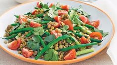 How do you cook lentil green bean salad? get instruction detail. Delicate limeinfused lentils complement the bold juiciness of the celery and beans. This colourful dish is a meal in itself, but also makes a highfibre side salad for a summer barbecue. Lentil Salad Recipes, Vegetarian Recipes, Healthy Recipes, Vegetarian Diets, Beet Recipes, Clean Recipes, Diabetic Recipes, Easy Recipes, Green Bean Salads