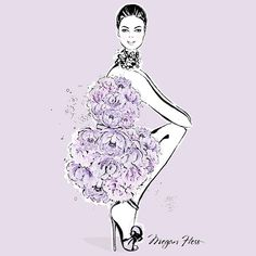 A Sunday well spent, brings a week of content. This is my 'Dancing In Blooms' print in all shades of lilac....