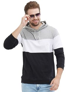 c59cdbfc77c6 78% Off on Men's Full Sleeve Hooded Tshirt Men's Wardrobe, Formal Shoes,  Fashion