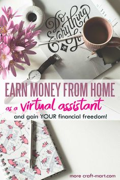 Do you want to earn money from home and pick your own schedule? Become a Virtual Assistant (VA)! Learn how you can take a short course and work from home (or anywhere in the world)! You'll be learning valuable skills and can see if this job is for you. Read about all the benefits, requirements, and real earnings of other virtual assistants working from home. Real Estate Assistant, Virtual Assistant Services, Real Estate License, Money Talks, Earn Money From Home, Find A Job, Money Management, Schedule, Budgeting