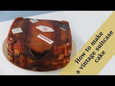 How to make a vintage suitcase cake tutorial / Jak zrobić tort stara walizka - YouTube