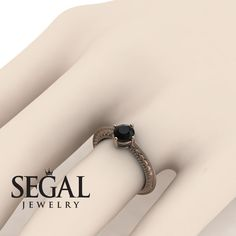 White Gold Engagement Ring by Segal Jewelry Vintage Gold Engagement Rings, Elegant Engagement Rings, Alternative Engagement Rings, Rose Gold Engagement Ring, Solitaire Engagement, Black Rings, White Gold Rings, Antique Diamond Rings, Wedding Blog
