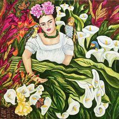 Frida Kahlo Art Pint,Frida's garden print, Mexican Art, Mexican Home Decor, Wall Art Print Frida's Garden - Frida Kahlo Fine Art Print Frida Kahlo Artwork, Frida Paintings, Frida Kahlo Diego Rivera, Frida And Diego, Mexican Artists, Mexican Folk Art, Mexican Garden, Estilo Floral, Canvas Art Prints