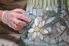 How to make a mosaic flower pot including info on sealing terra cotta first