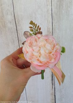 Pink Silk Flowers at