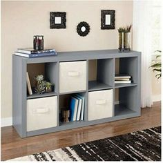 Hottest Cost-Free 8 Cube Storage Bookcase Gray Modern Wood Organizer Home Office Den Furniture New Tips The IKEA Kallax collection Storage furniture is an important section of any home. They provide ord Cube Bookcase, Cube Shelves, Bookcase Storage, Shelving, Bookcases, Wall Shelves, Cube Storage Unit, Cubby Storage, Storage Cubes