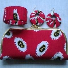 AFRICAN PRINT purse and accessories by EJAfricanProducts on Etsy