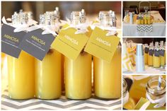baby shower ideas yellow and gray baby shower pear salad a cool baby shower ideas for girls Baby Shower Drinks, Baby Shower Niño, Baby Shower Favors, Shower Party, Baby Shower Parties, Baby Shower Themes, Baby Shower Decorations, Baby Shower Invitations, Baby Shower Gifts