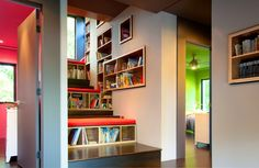 fitting your child's library into the staircase