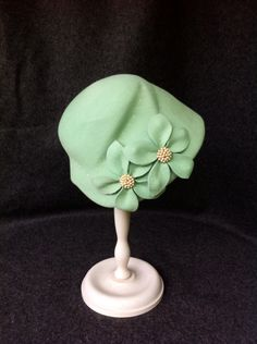 """""""Sissi"""" is made on an original 50s hat block and is worn like a cap. It is best for short hair."""