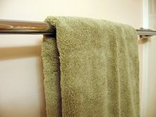 I've always struggled to do this right- How to Fold Bath Towels for Quick Hanging at Home!