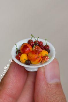Miniature Fruit Sculptures by Stephanie Kilgast