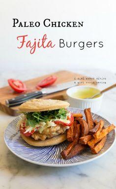 Paleo Chicken Fajita Burgers | The Mommypotamus #food #paleo #burger